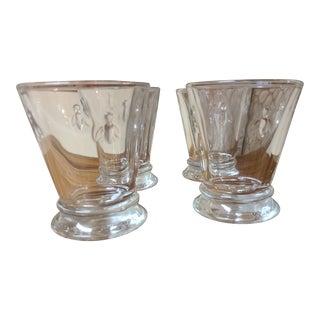 Gem De France Vintage Pressed Glass Bee Tumblers From France- Set of 4 For Sale
