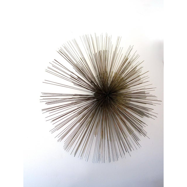 Gold Curtis Jere Large Spoke Wall Sculpture For Sale - Image 8 of 9
