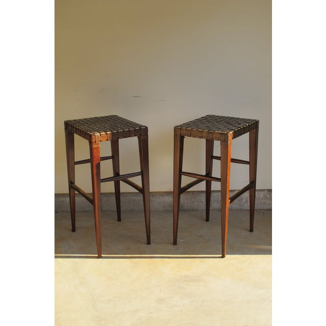 Artistica Milo Backless Barstools -- A Pair For Sale In Washington DC - Image 6 of 10