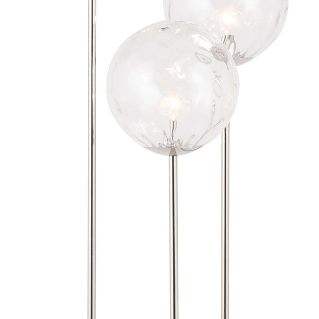 Rio Triple Floor Lamp in Polished Nickel For Sale - Image 4 of 6