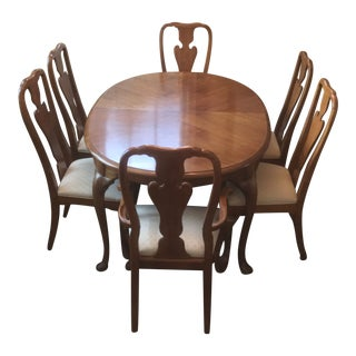 """Thomasville """"Fisher Park"""" Dining Set - 7 Pieces For Sale"""