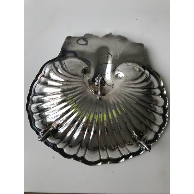 1960's Reed & Barton 209 Silver Plate Scallop Shell Grapes Footed Serving Dish For Sale In New York - Image 6 of 7
