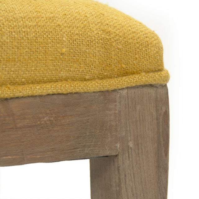 Earls Bench in Yellow For Sale - Image 4 of 5