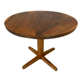 Mid-Century Modern George Nakashima Circular Cocktail Pedestal Table For Sale