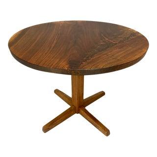 Mid-Century Modern George Nakashima Circular Cocktail Pedestal Table For Sale