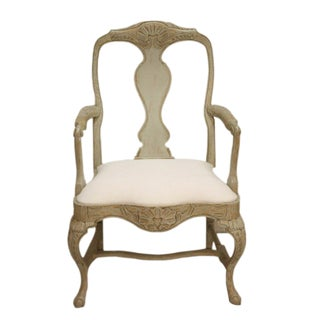 Swedish Rococo Inspired Occasional/ Dining Armchair For Sale