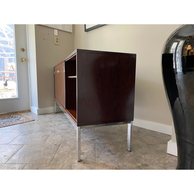 Metal Vintage Console, From Italma Furniture Company, Designed by Jean Gillon, For Sale - Image 7 of 13