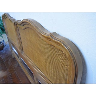 19th Century Traditional Queen Wooden Headboard With Rattan Preview