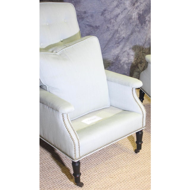 Henredon Scalamandre Furniture Club Chairs- A Pair For Sale - Image 4 of 11