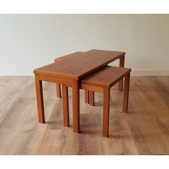 Vejle Stole & Møbelfabrik Teak Coffee Table With Nesting Side Tables - 3 Pieces For Sale - Image 13 of 13