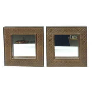 Thomasville Small Framed Mirrors - a Pair For Sale