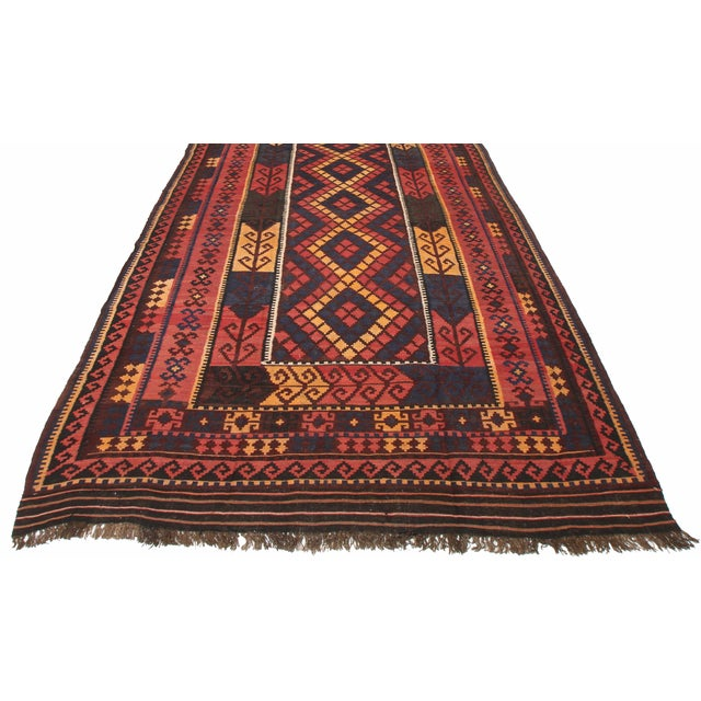 RugsinDallas Vintage Oversize Wool Afghan Kilim - 7′10″ × 14′6″ - Image 1 of 2