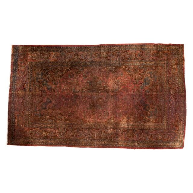 """Vintage Meshed Carpet - 7'3"""" x 12'6"""" - Image 1 of 9"""