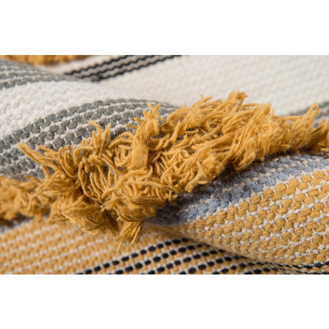 2010s Novogratz by Momeni Indio Feliz in Mustard Rug - 2'X8' Runner For Sale - Image 5 of 8