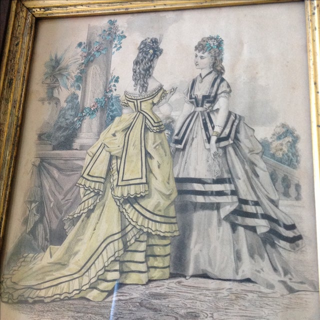 Antique Parisian Fashion Plate For Sale In Chicago - Image 6 of 6
