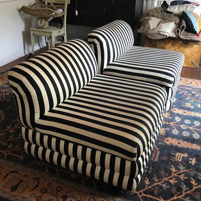 This stunning pair of slipper chairs boasts striking modern design. Designed for Directional by Vladimir Kagan the elegant...