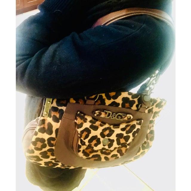 Dolce & Gabbana Dolce & Gabbana D & G Leopard Fur Satchel Purse For Sale - Image 4 of 10