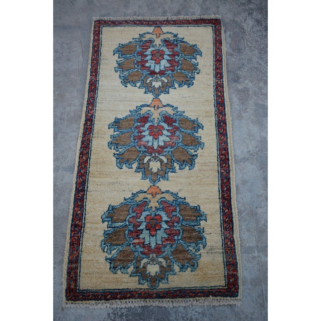 2010s Traditional Turkoman Hand-Knotted Tan Wool Rug For Sale - Image 5 of 5