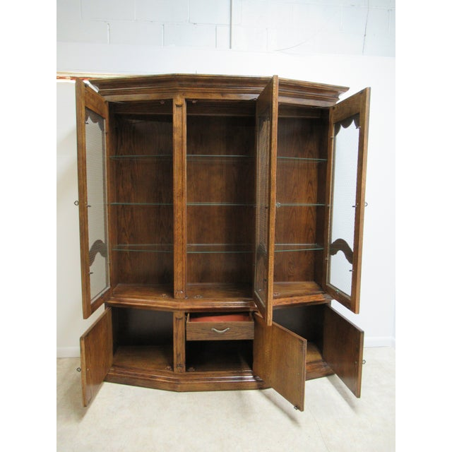 Century Furniture Vintage Century Furniture Country French Oak China Cabinet For Sale - Image 4 of 13