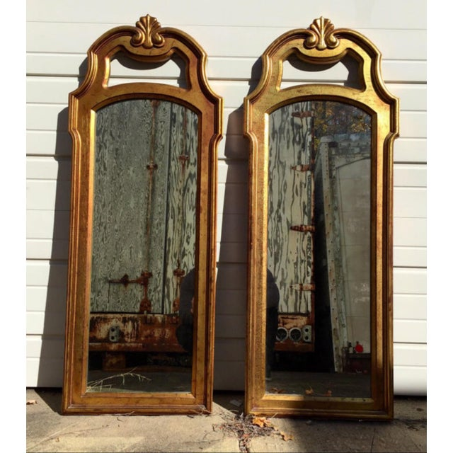Vintage Gold Mirrors- A Pair - Image 2 of 6