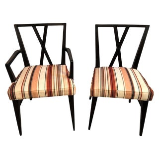 Set of Ten Tommi Parzinger Attributed Dining Room Chairs For Sale