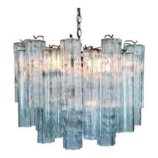 Murano Glass Chandelier - Mid Century Modern Palm Beach Boho Chic Italy Italian Venetian Venini For Sale