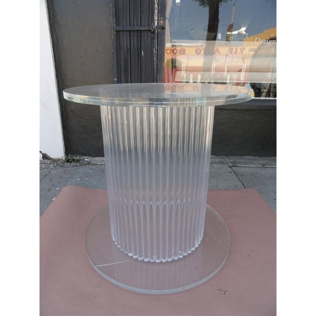 Mid-Century Modern Column Style Lucite Center Table by Ritts Furniture Company For Sale - Image 3 of 11