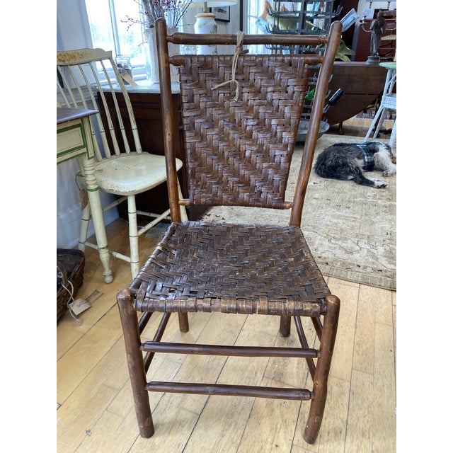 American Old Hickory Dining Chairs - a Pair For Sale - Image 3 of 9