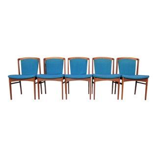 Mid-Century Danish Modern Teak Dining Chairs by Erik Buck for Chr. Christiansen - Set of 10 For Sale