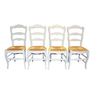 French Country Painted Chairs - Set of 4