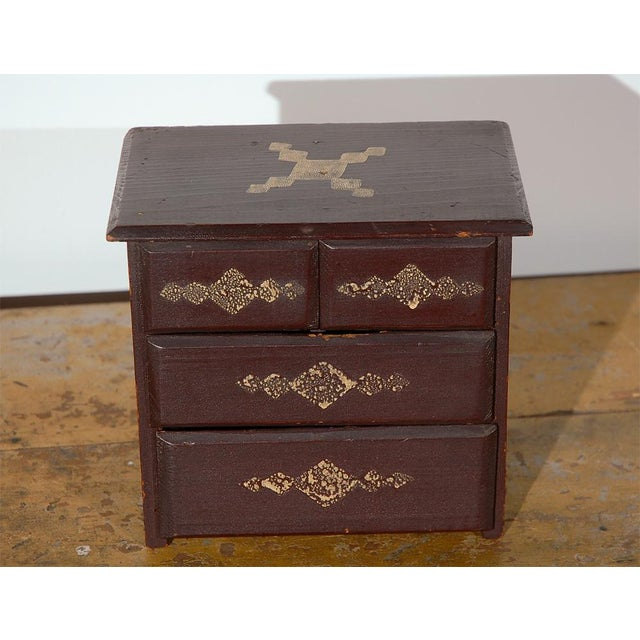 19th Century Miniature Chest of Drawers in Original Paint For Sale In Los Angeles - Image 6 of 6