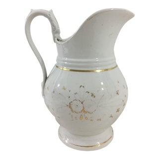 19th Century Old Paris Charles X Pitcher For Sale