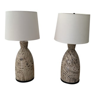"""Effie"" Table Lamps & Shades - a Pair For Sale"