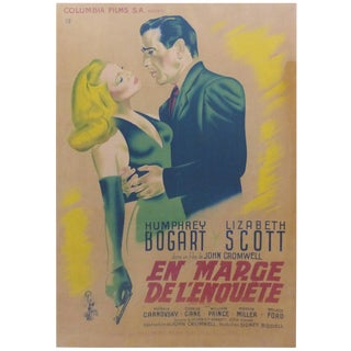 1947 French Humphrey Bogart Poster