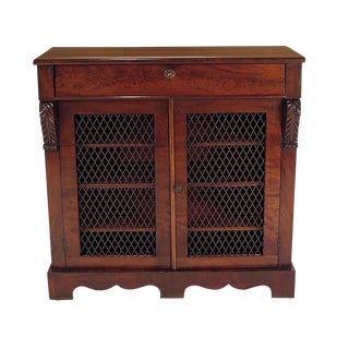 Early 19th Century English Regency Period Mahogany Cabinet For Sale