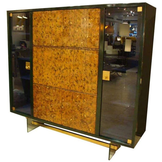 Raphael Rare Drop Front Libraire Cabinet in Original Lacquer France circa 1962 For Sale - Image 10 of 10