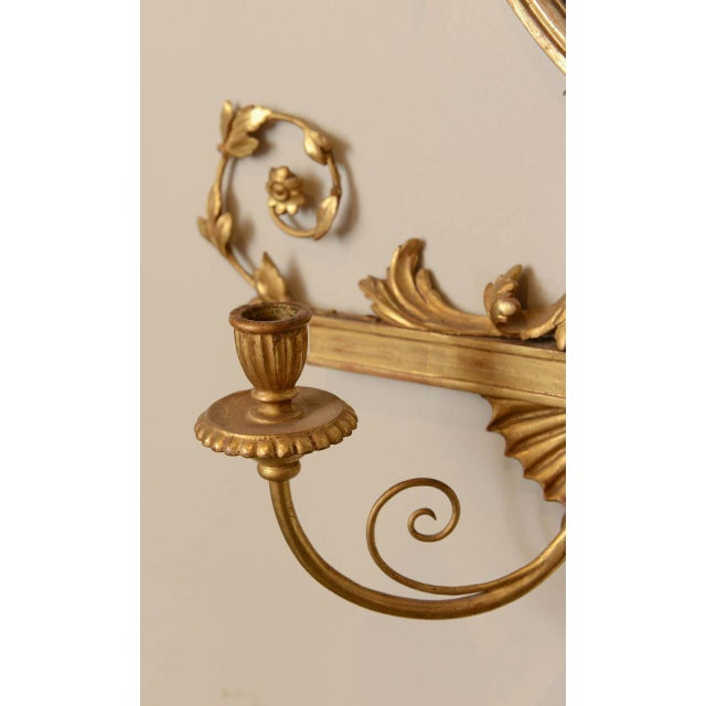 Late 19th Century 19th C. Giltwood Mirrored Sconces - a Pair For Sale - Image 5 of 11