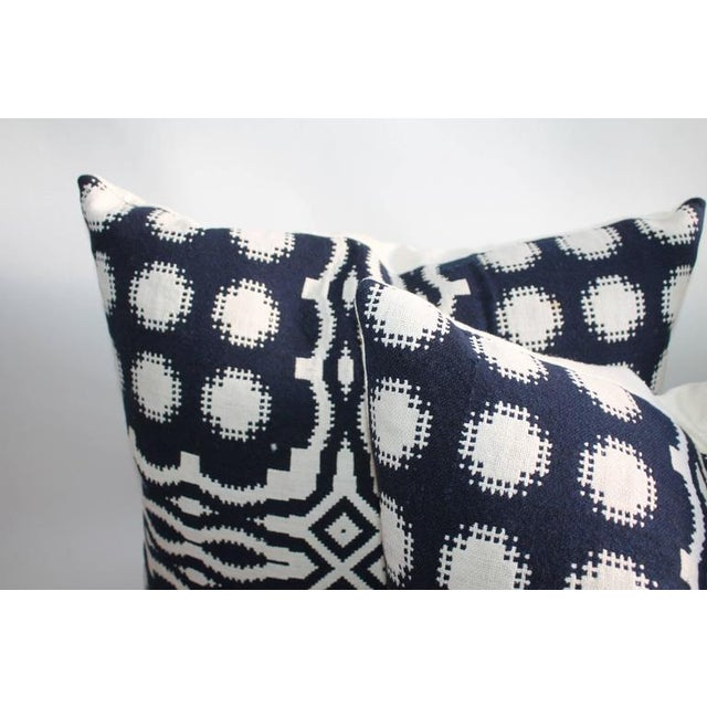 19th Century Handwoven Jacquard Coverlet Pillows For Sale In Los Angeles - Image 6 of 10