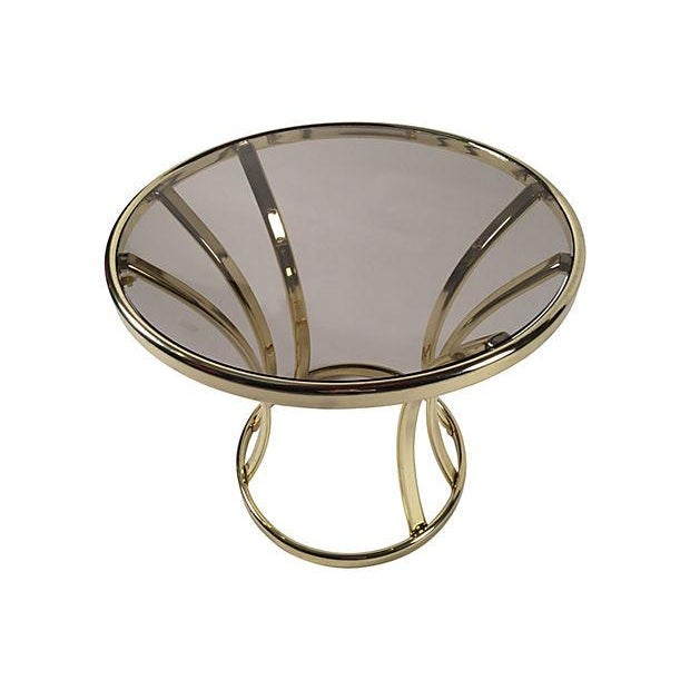 Brass and Glass Side Table - Image 3 of 4