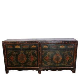 Vintage Pine Green Mongolia Sideboard