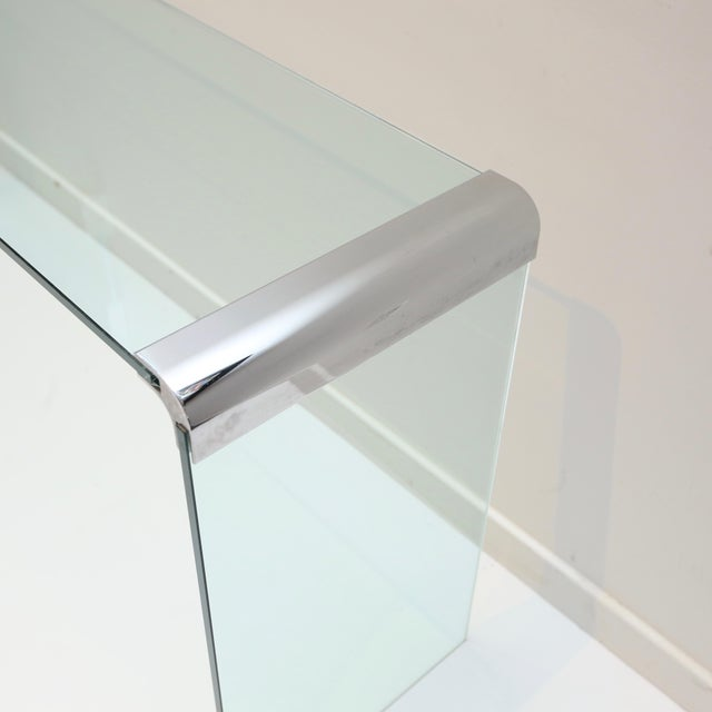 Mid-Century Modern Pace Collection Waterfall Console Table For Sale - Image 3 of 8