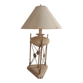 Neoclassical Stone Lamp For Sale