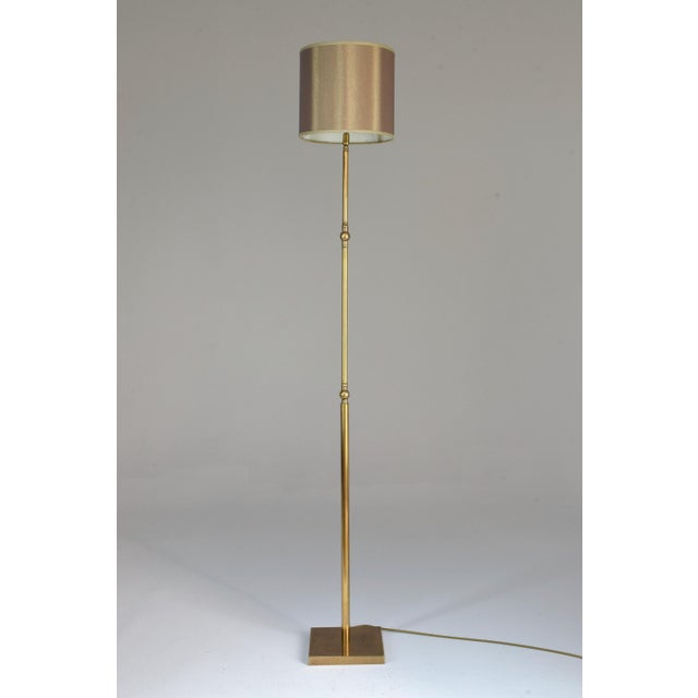 20th Century French Brass Floor Lamp, 1960's For Sale - Image 11 of 12