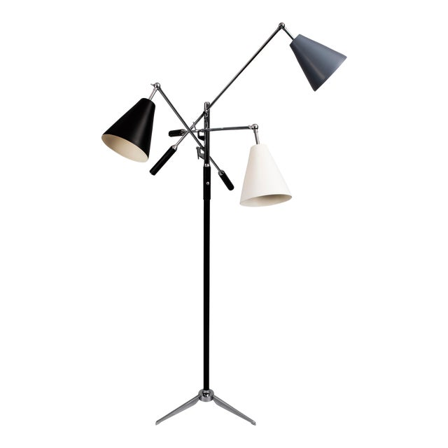 1960s Brutalist Angelo Lelii for Arredoluce Triennale Lamp For Sale