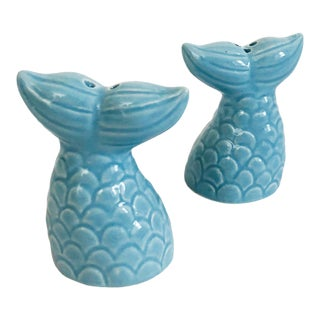 Viintage Fish Tail Salt and Pepper Shakers For Sale