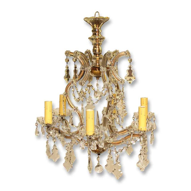Marie Therese Crystal Antique Chandelier For Sale - Image 12 of 12