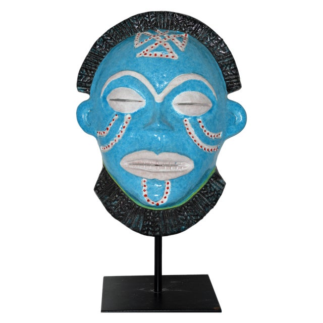 Neiman Marcus Italian Clay African Tribal Mask - Image 1 of 6