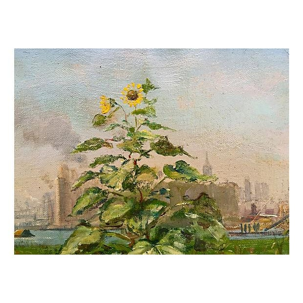 """New York City Skyline """"Summertime at Hells Gate,"""" Francis Kughler For Sale - Image 4 of 6"""