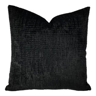 Contemporary Black Velvet Pillow Cover For Sale