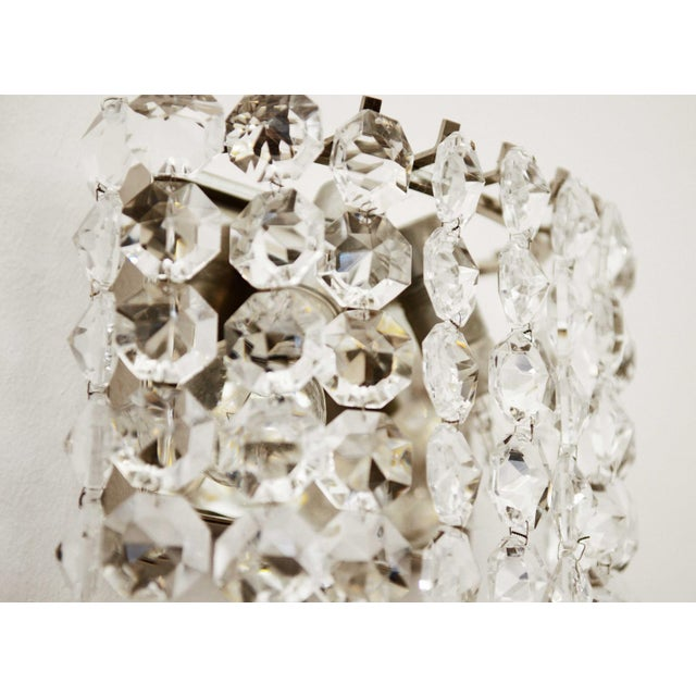 1960s Vintage Crystal Wall Lamp from Austria by Bakalowits, 1960s For Sale - Image 5 of 8